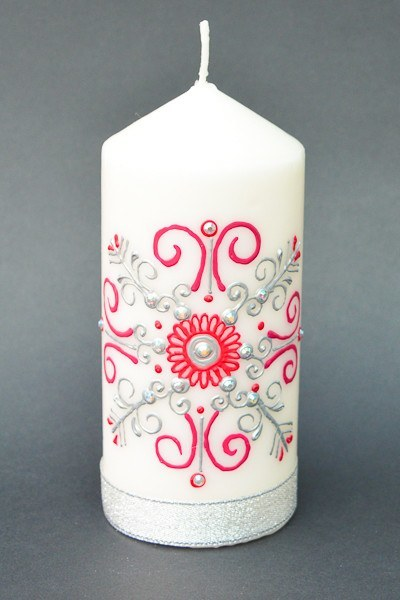 Personalised Henna Candles - Snowy Snowflake