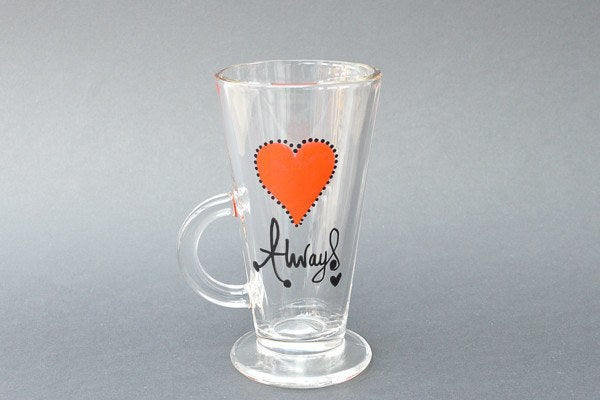 Personalised Latte Glasses - Forever & Always