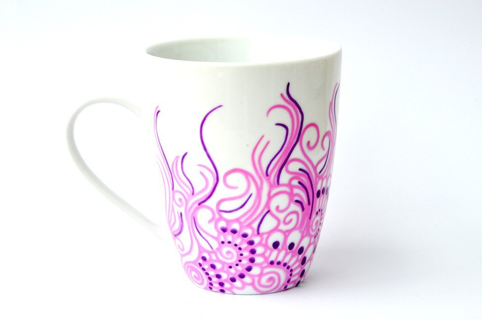 Personalised Mugs - Blooming Amethyst