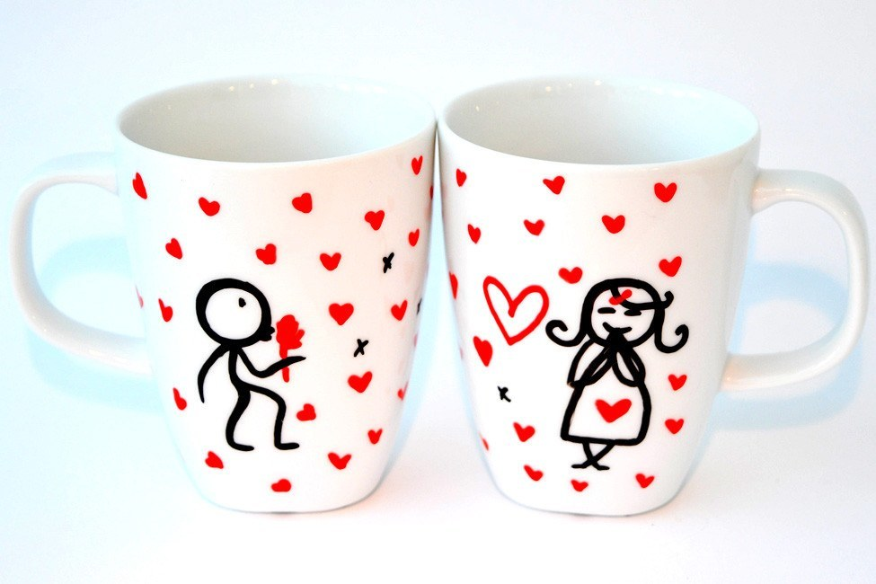 Personalised Mugs - Loves A Dream (Set Of 2)