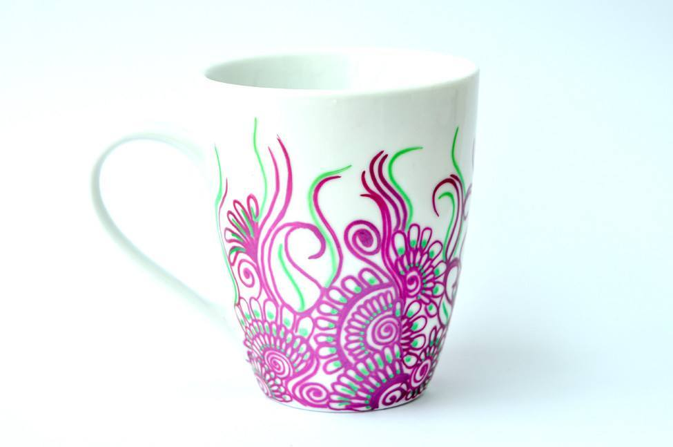 Personalised Mugs - Purple Ivy