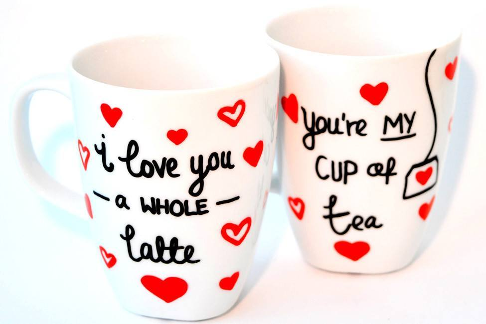 Personalised Mugs - Sweet Sayings (Set Of 2)