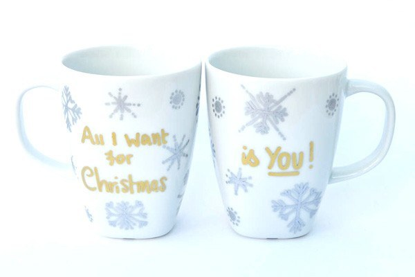 Personalised Mugs - White Christmas