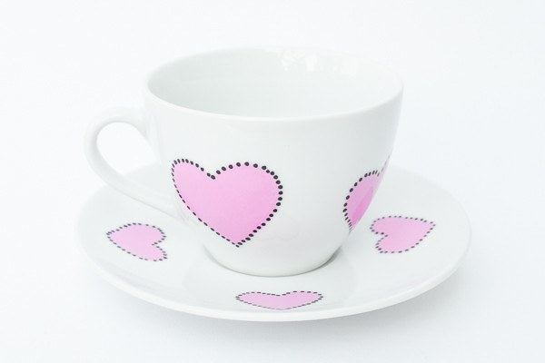 Personalised Tea Cups - Pinking Tea Party