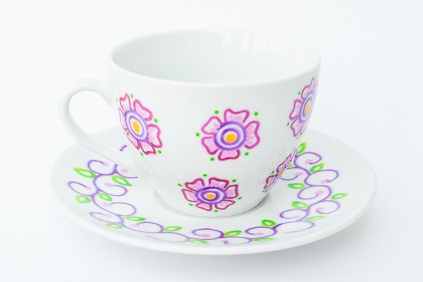 Personalised Tea Cups - Tea Garden