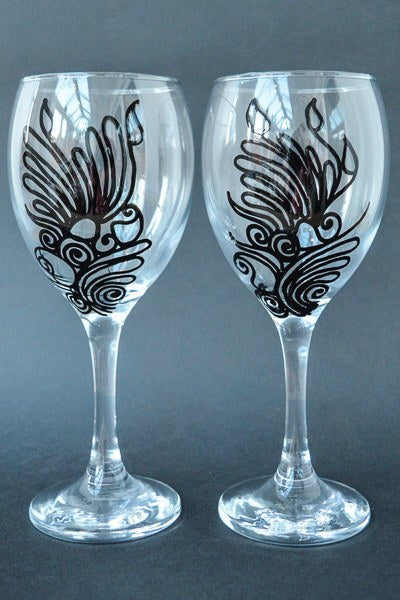 Personalised Wine Glasses - In The Night (Set Of 2)
