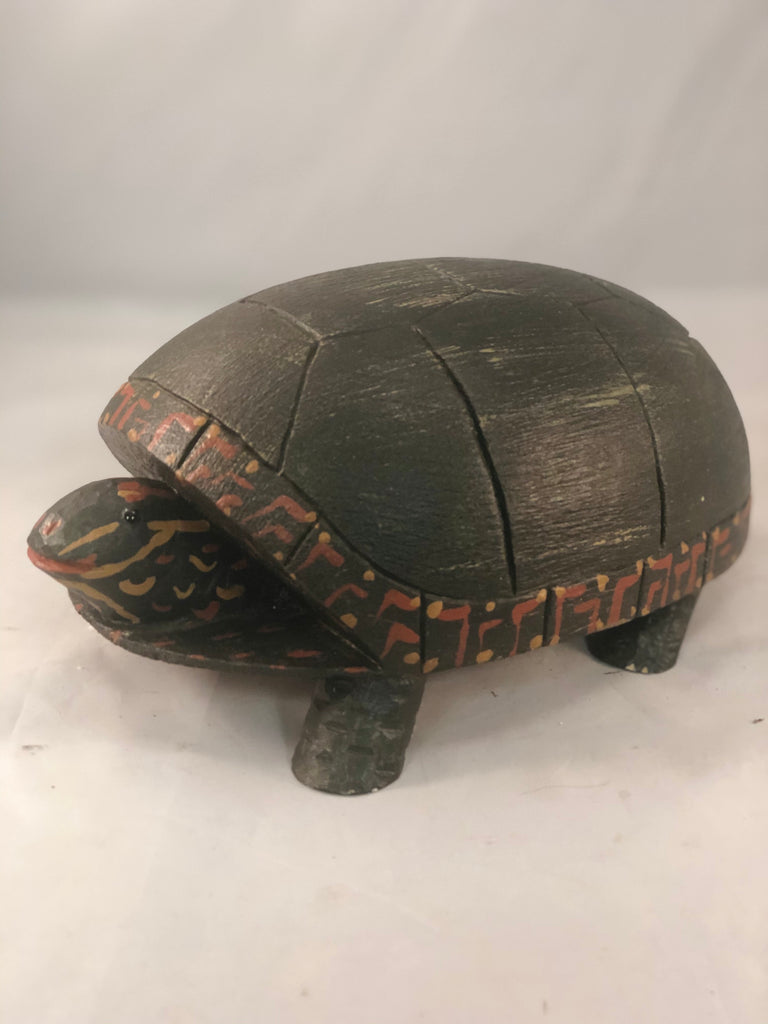 Hand carved life size turtle