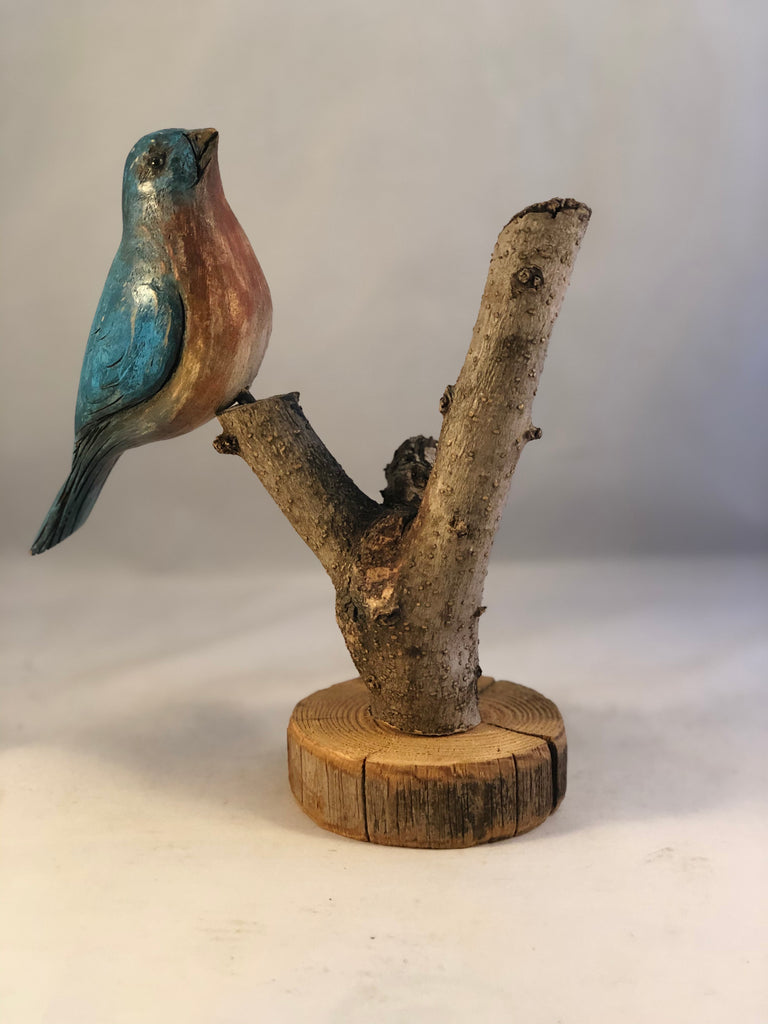 Hand carved bluebird