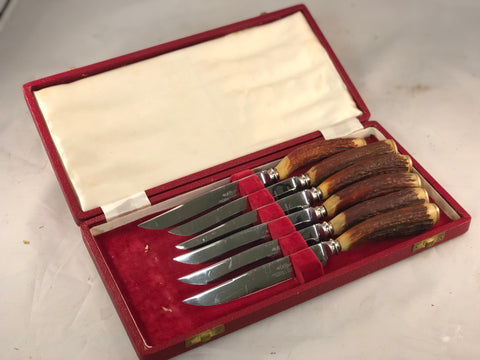 Stag horn knife set