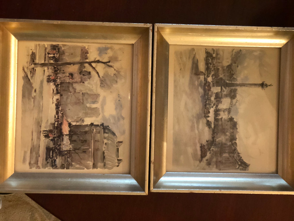 Pair of hand colored lithographs by HWagner