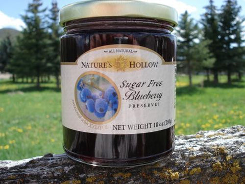 Nature's Hollow Sugar Free Blueberry Jam Preserves 280 g