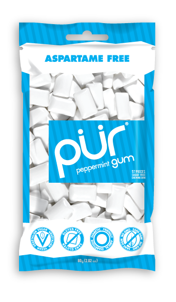 PUR Peppermint Gum bag