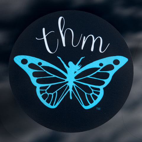 THM Butterfly Car Sticker