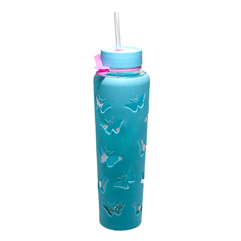 THM Butterfly Sipper Jar 32oz – Blue