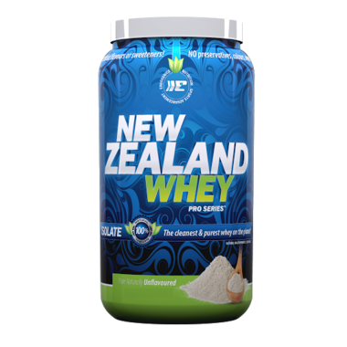 New Zealand Whey Protein ISOLATE – Unflavoured (1 lb)