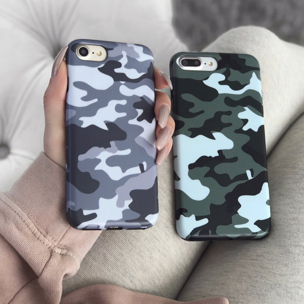 Gray Camo iPhone Case