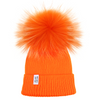Lux Pom Beanie Neon Orange Fur