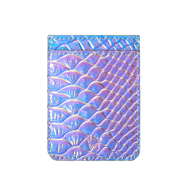 Iridescent Snakeskin Phone Wallet