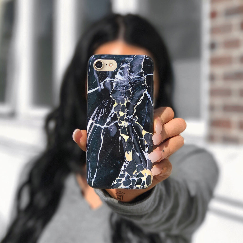 Black Panther Marble iPhone Case