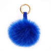 ELECTRIC BLUE LUX FOX POM KEY CHAIN