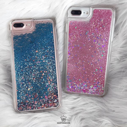 iphone 7 plus case pink glitter