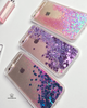 Purple Hearts Glitter iPhone Case