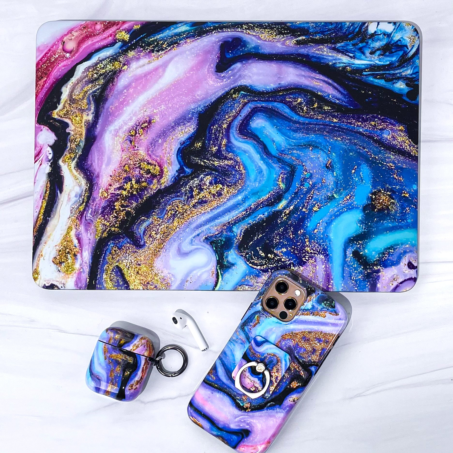 Galaxy Glitter Marble MacBook Case