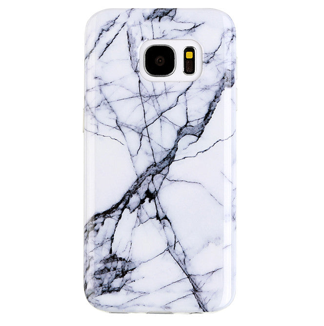 White & Gray Marble Samsung S7 Case
