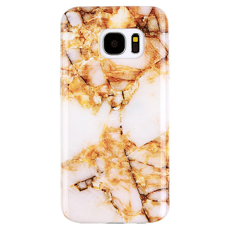 Amber Gold Marble Samsung S7 Case