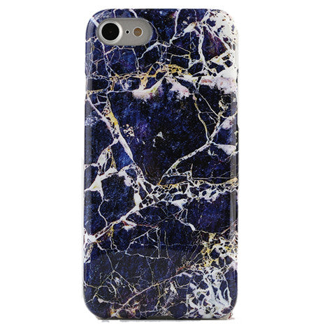 Midnight Gold Marble iPhone Case