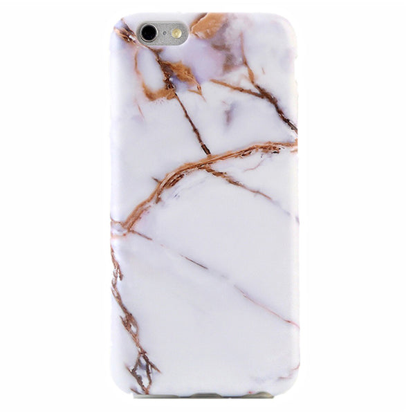 White & Gold Marble iPhone Case