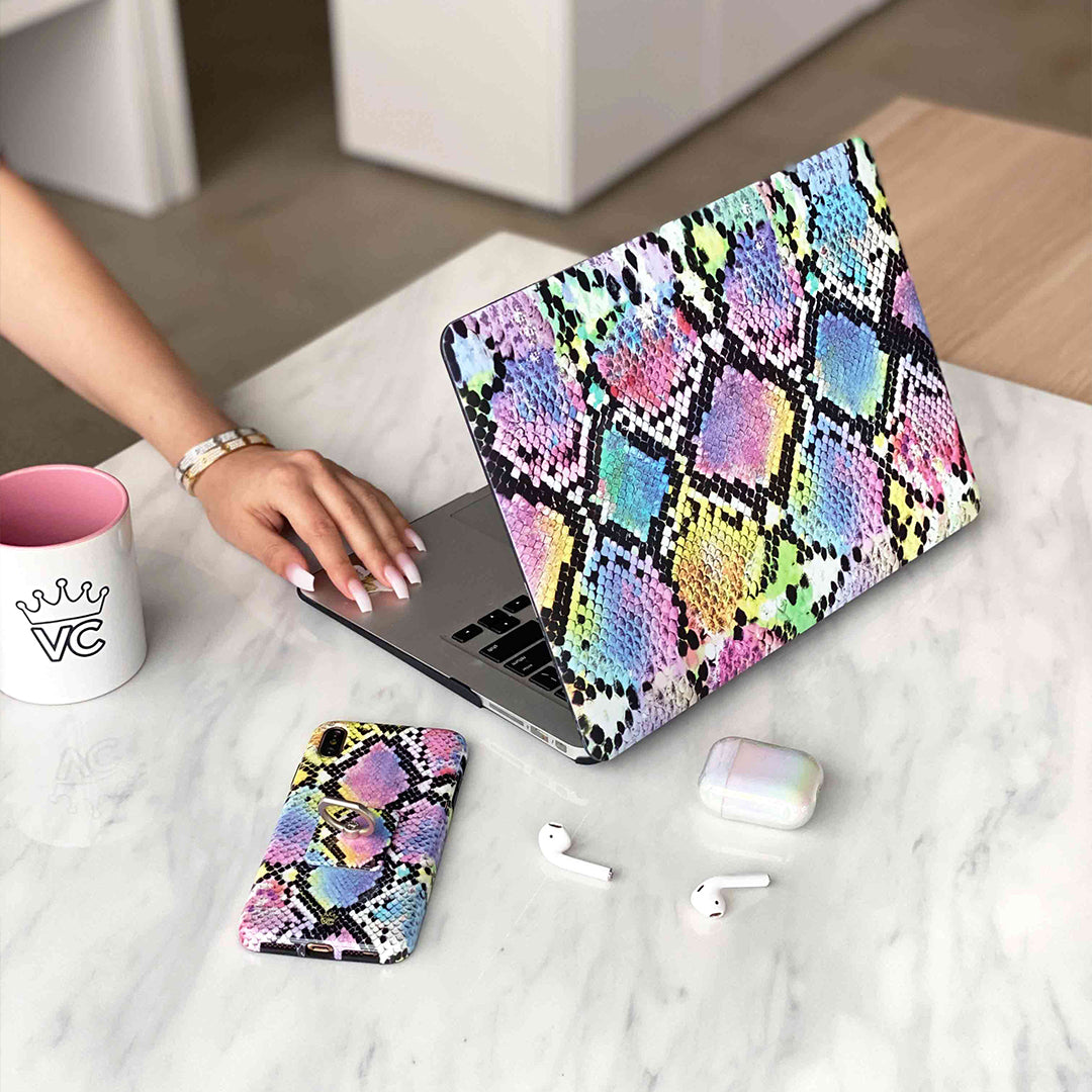 Neon Snakeskin MacBook Case