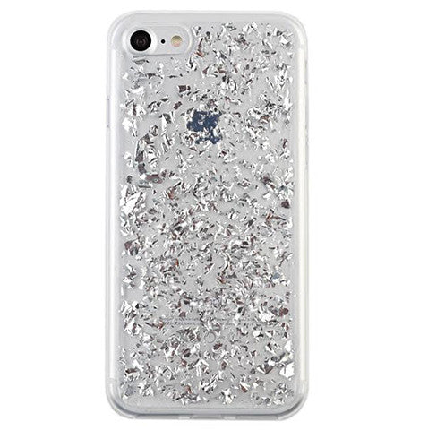 Silver Flakes I Phone Case by Velvet Caviar
