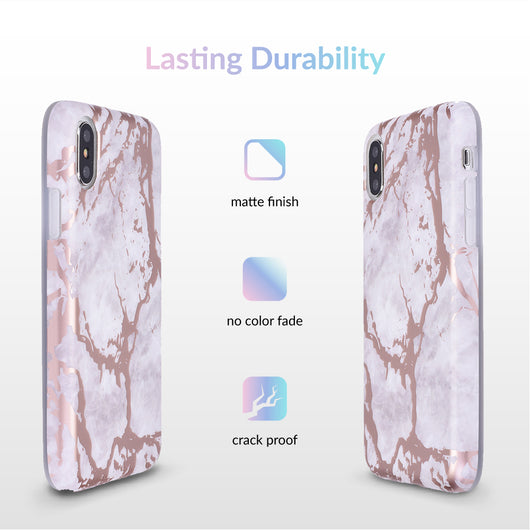 White Marble Rose Gold Chrome Iphone Case Velvetcaviar Com