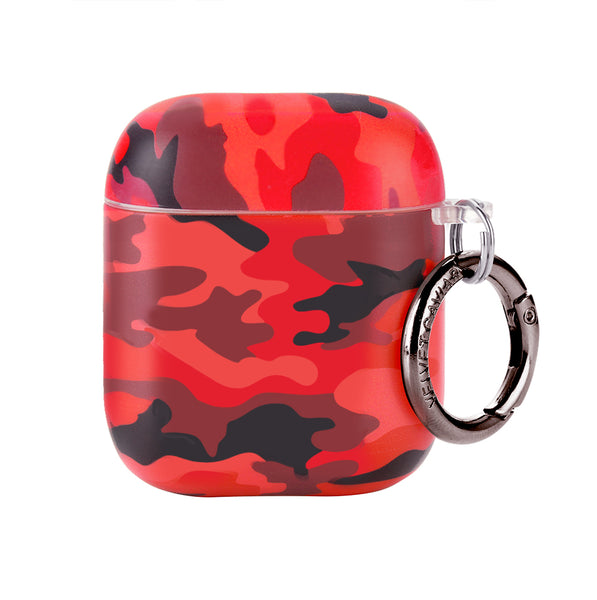Red Camo Airpods Case