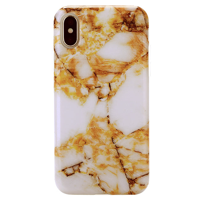 Amber Gold Marble iPhone Case