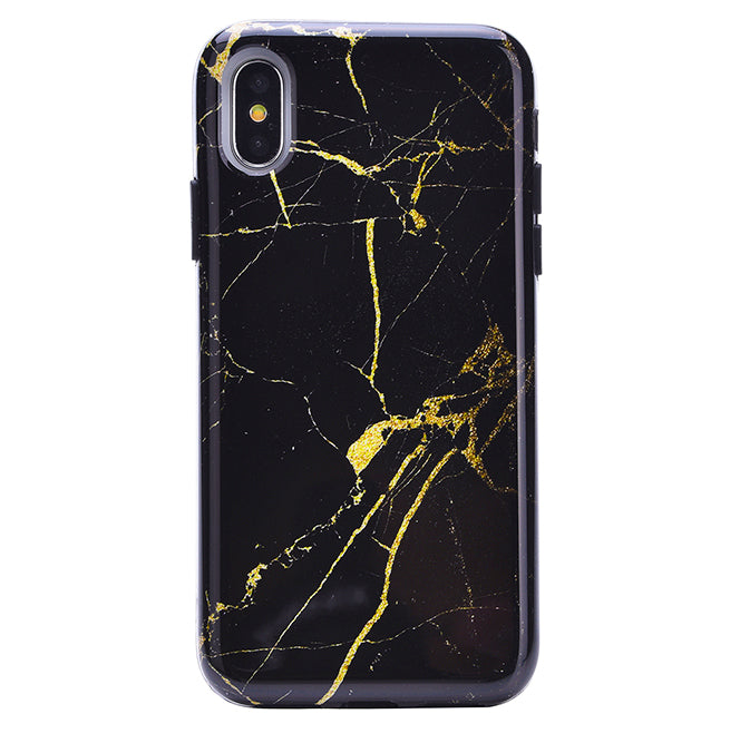 uk availability 7a6b2 228c4 Black & Gold Marble iPhone Case
