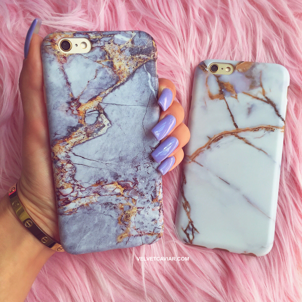 Gray & Gold Marble iPhone Case