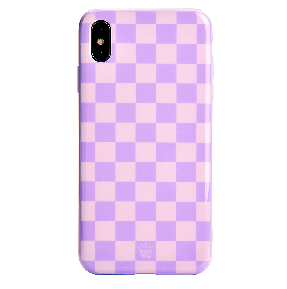 online store 1341f 5832b Checkered Lavender Nude iPhone Case