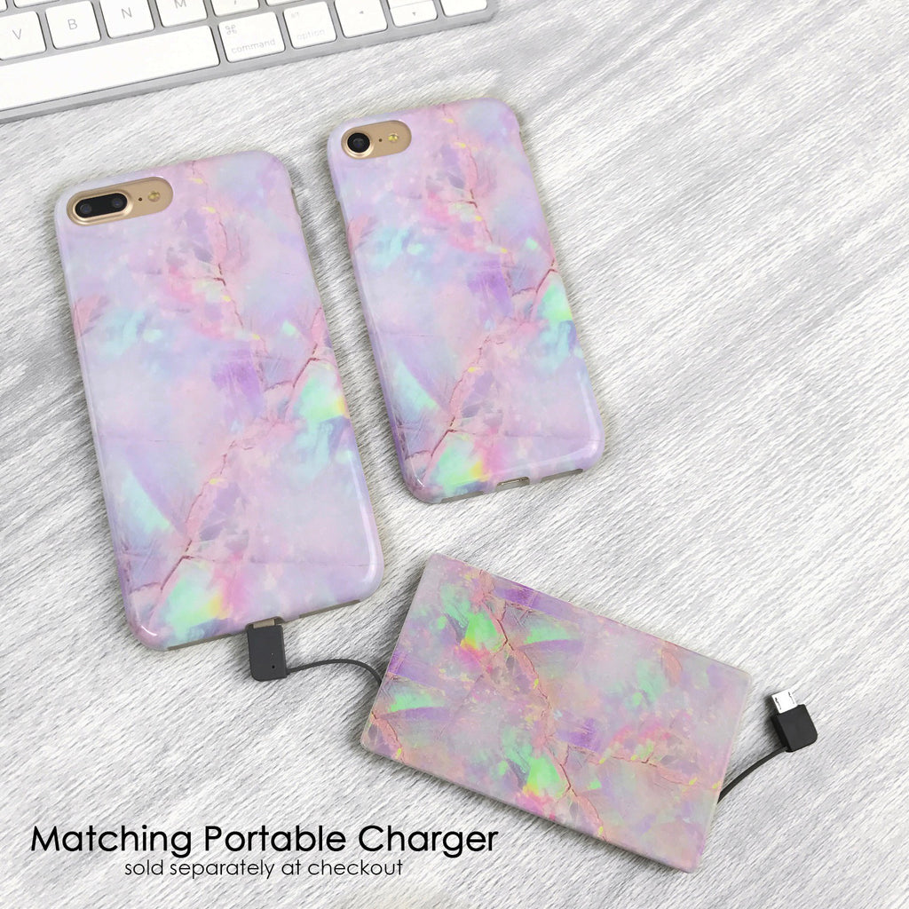 Cotton Candy Marble iPhone Case
