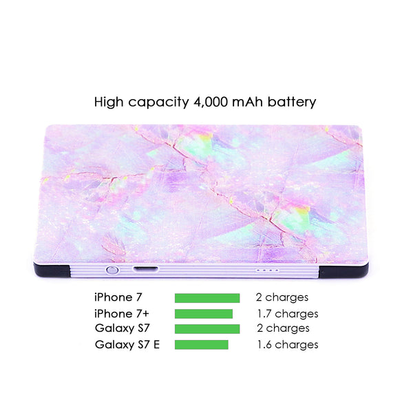 4000 mAh Portable Power Bank Phone Charger - Cotton Candy