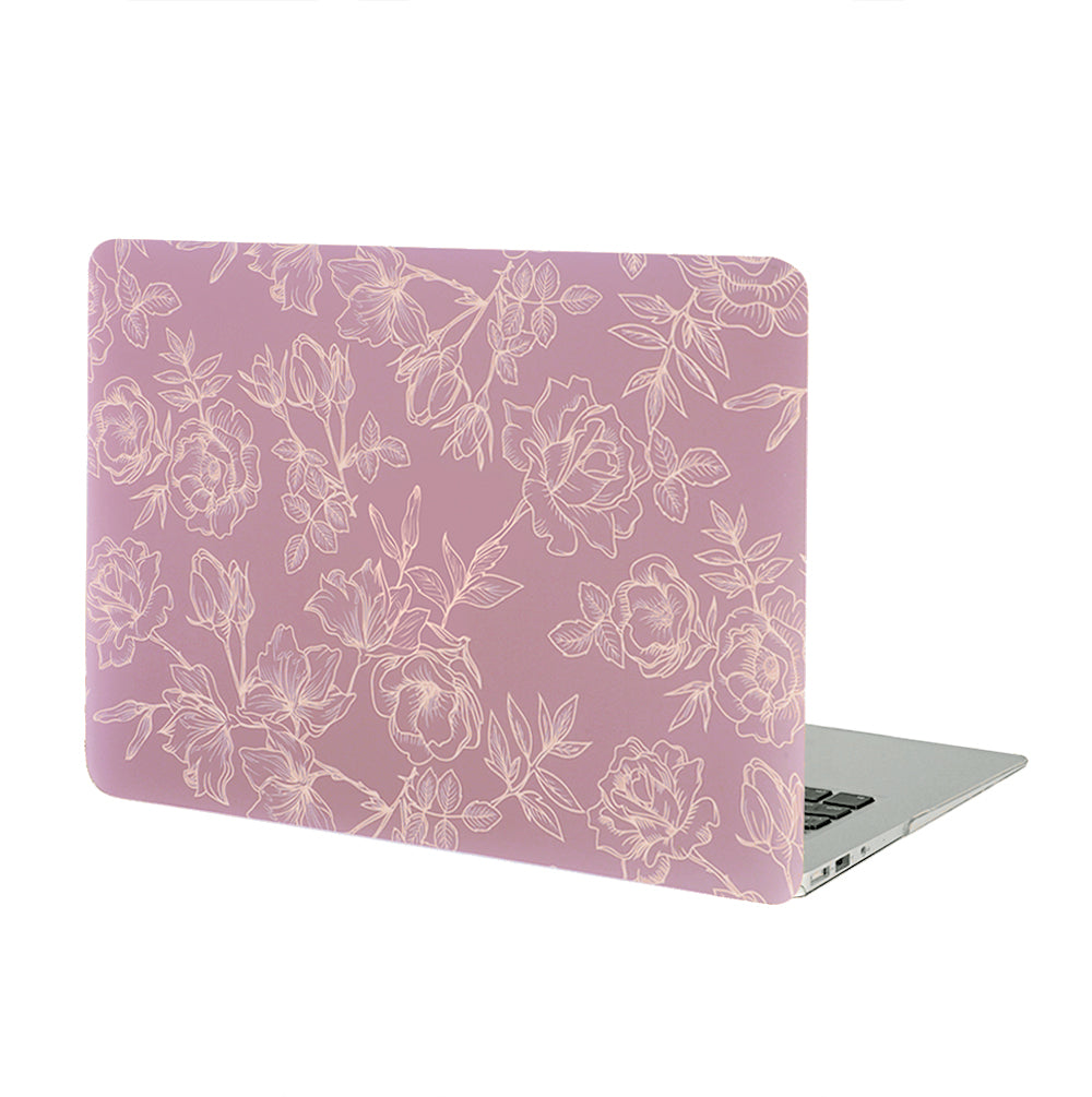 Dusty Rose Floral MacBook Case