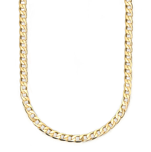 Mask Chain Necklace - 12mm Curb in Gold