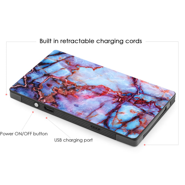 4000 mAh Portable Power Bank Phone Charger - Galaxy Marble