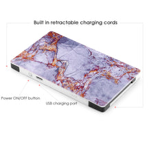 4000 mAh Portable Power Bank Phone Charger - Gray & Gold Marble