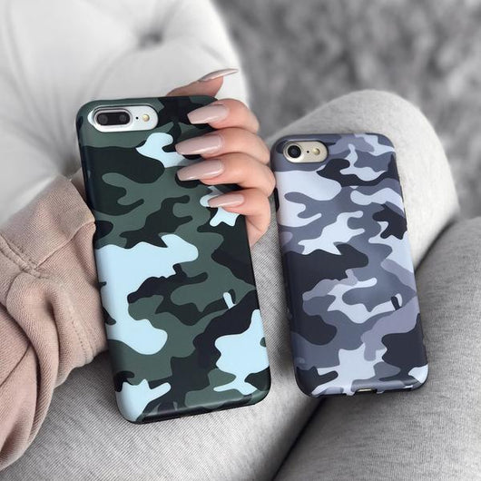 new style a2a6b da4eb Green Camo iPhone Case
