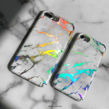 Holo White Marble iPhone case