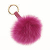 HOT PINK LUX FOX POM KEY CHAIN