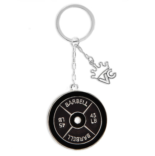 Barbell Keychain
