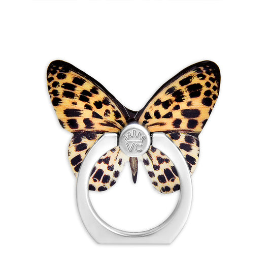 Leopard Butterfly Phone Ring